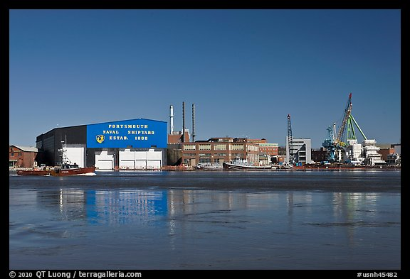 Portsmouth Naval Shipyard. Portsmouth, New Hampshire, USA