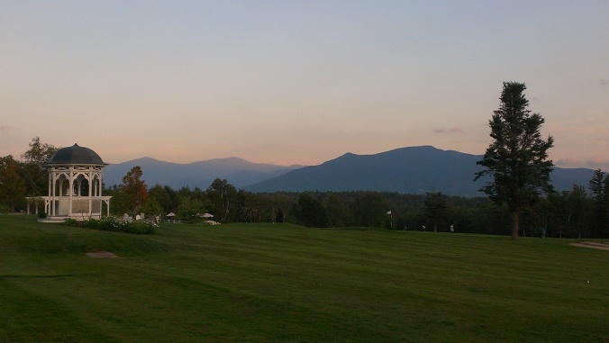 Sunset behind the White Mountains